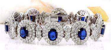 27.50 Carat Natural Sapphire 18K Solid White Gold
