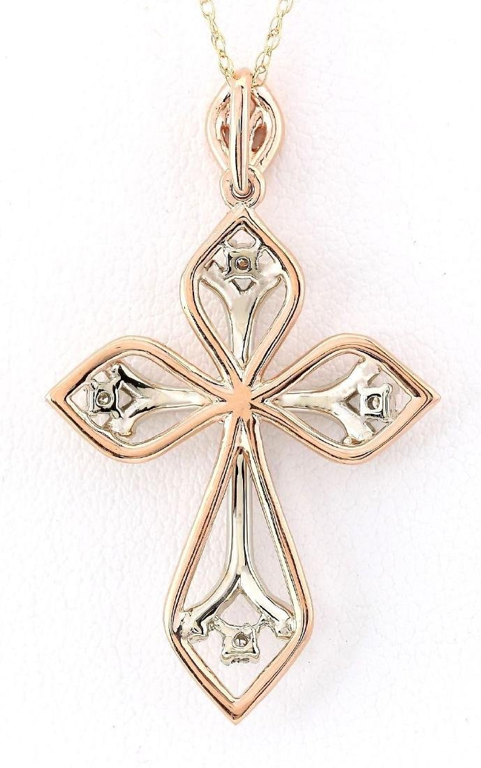 .70 CTW Natural Diamond Pendant In 14k Solid Rose Gold - 3