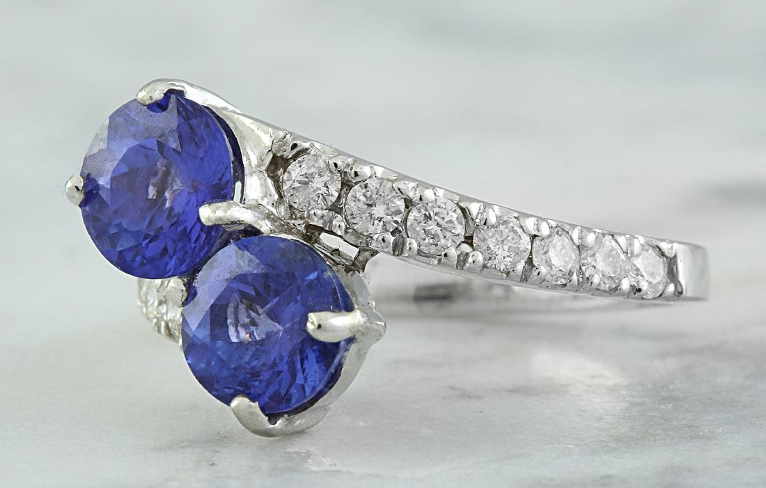 2.52 Carat Tanzanite 18k White Gold Diamond Ring - 2