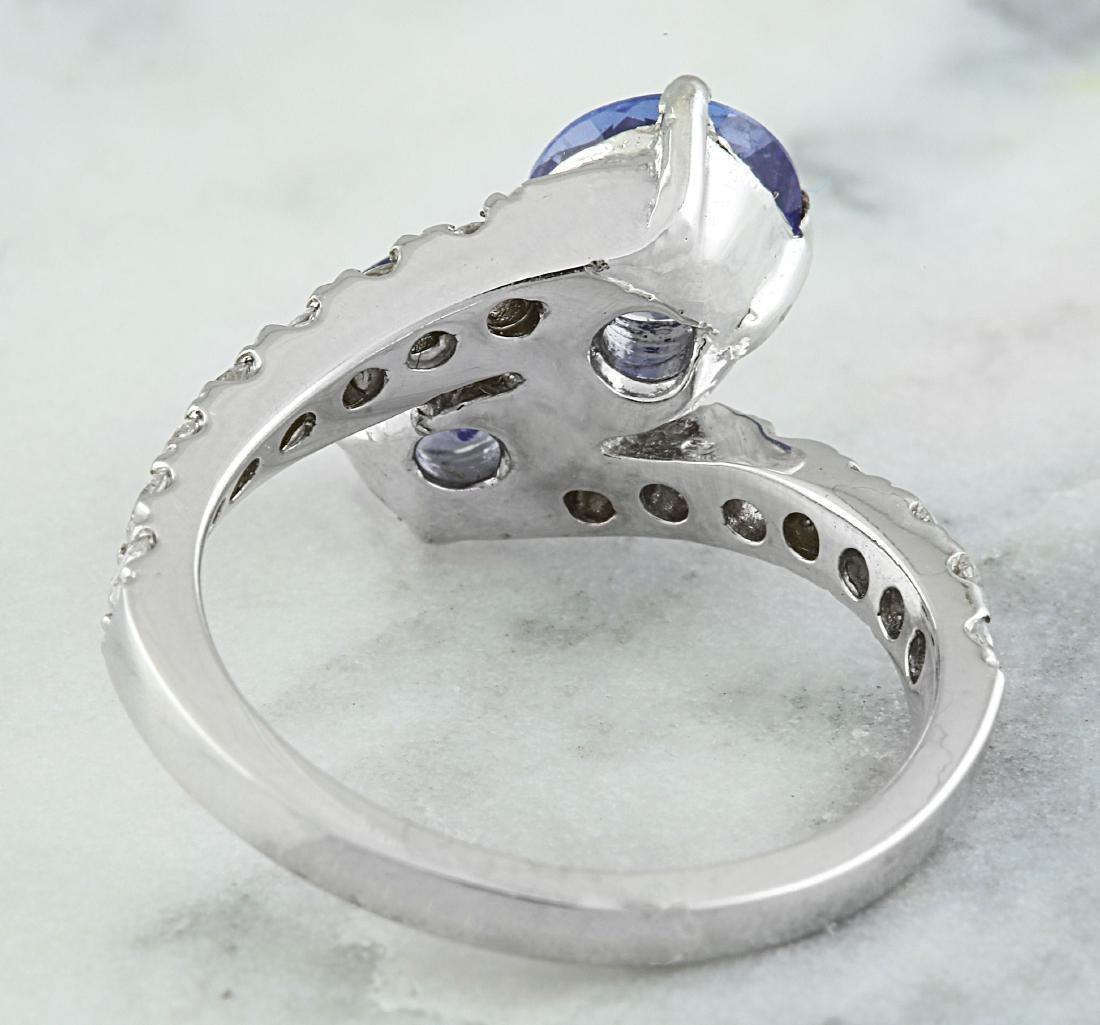 2.52 Carat Tanzanite 18k White Gold Diamond Ring - 3