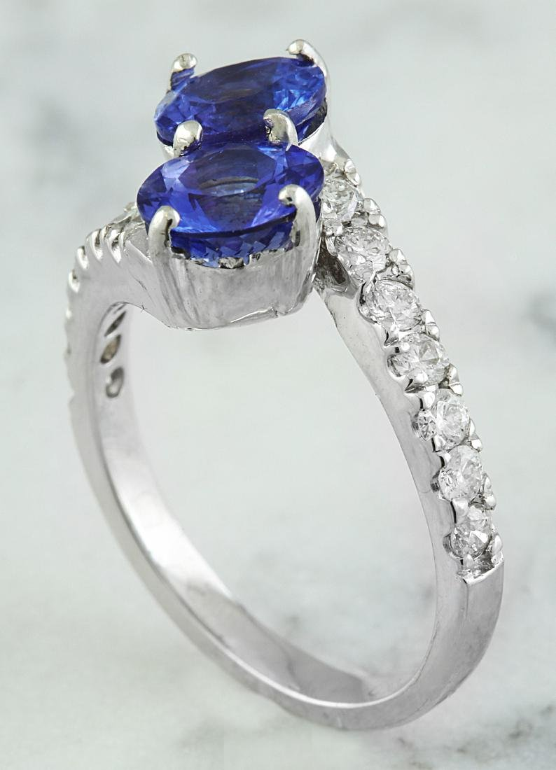 2.52 Carat Tanzanite 18k White Gold Diamond Ring - 4