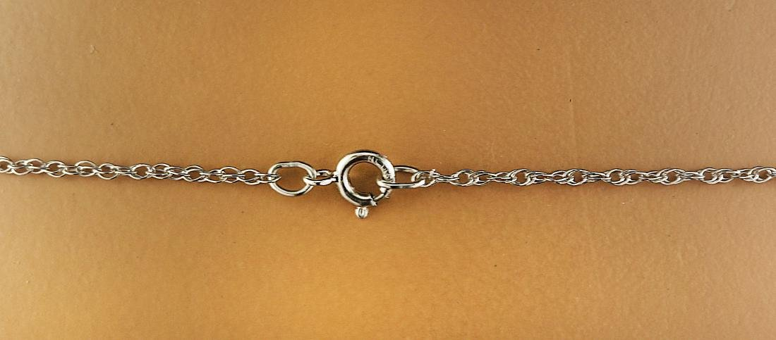 5.10 Carat Tanzanite 18k White Gold Diamond Necklace - 4