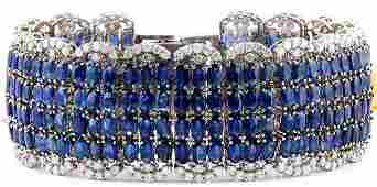 68.50 Carat Natural Sapphire 18K Solid White Gold