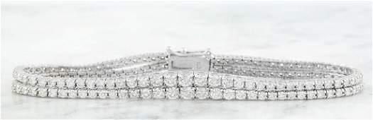 4.90 Carat Diamond 18K White Gold Bracelet