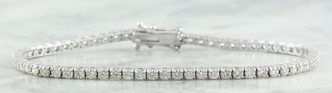 3.55 Carat Diamond 18K White Gold Bracelet