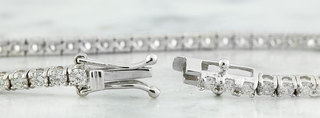 3.55 Carat Diamond 18K White Gold Bracelet - 2