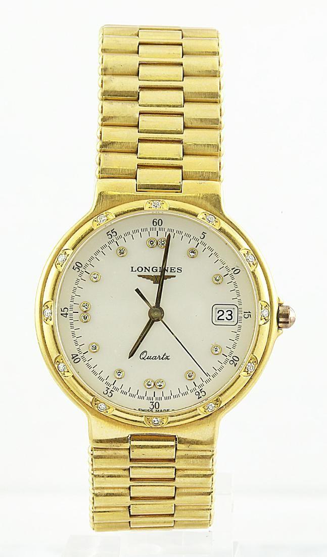 Longines 18K Yellow Gold Diamond Watch