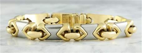 Authentic Bvlgari 18K Two Tone Gold Bracelet
