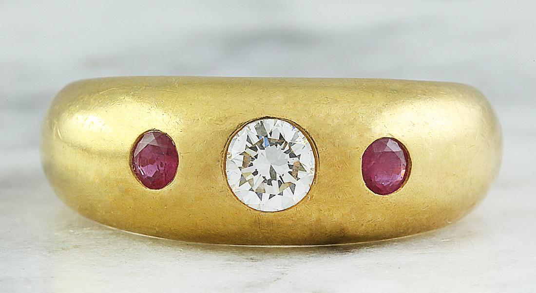 0.40 Carat Authentic Cartier 18K Yellow Gold Diamond
