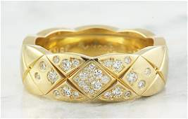 0.19 Carat Authentic Coco Crush Chanel 18K Yellow Gold