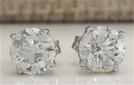 240Carat Natural Diamond Earrings 18K Solid White Gold