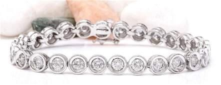 10.22 Carat Natural Diamond 18K Solid White Gold
