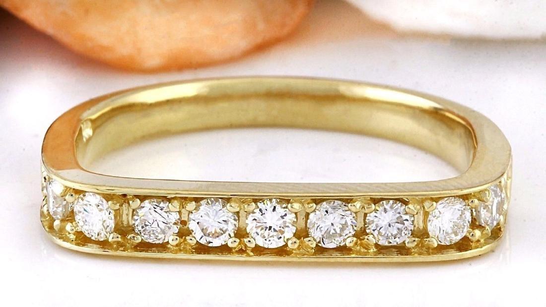 0.50 Carat Natural Diamond 18K Solid Yellow Gold Ring