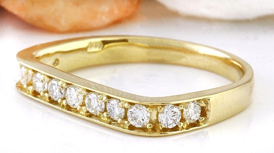 0.50 Carat Natural Diamond 18K Solid Yellow Gold Ring - 2