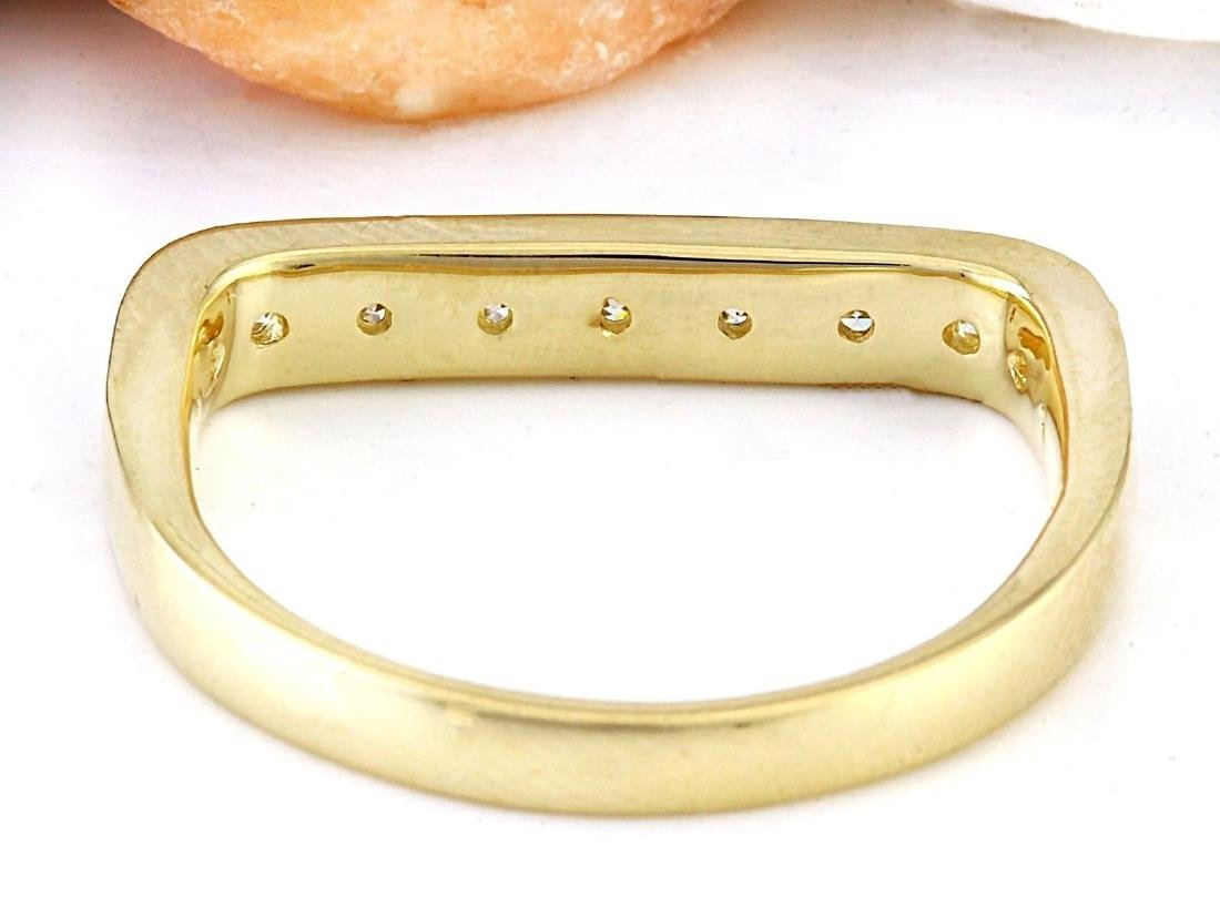 0.50 Carat Natural Diamond 18K Solid Yellow Gold Ring - 3