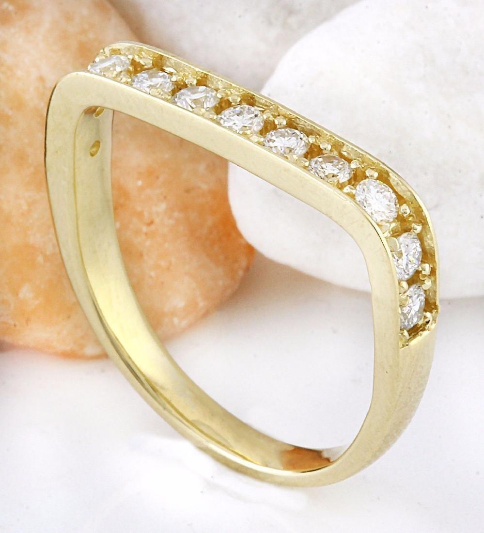 0.50 Carat Natural Diamond 18K Solid Yellow Gold Ring - 4