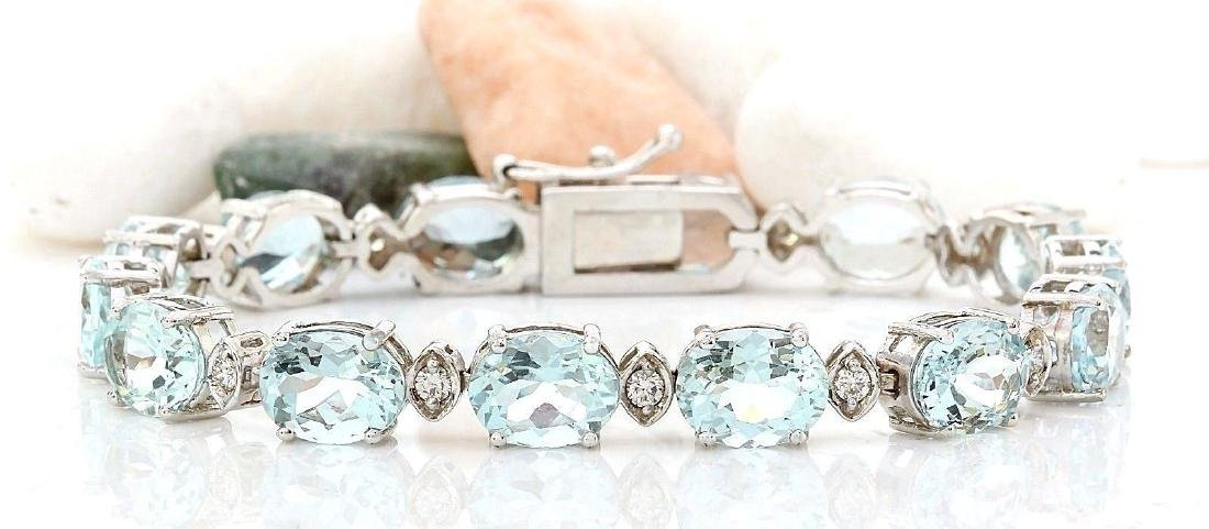 25.75 Carat Natural Aquamarine 18K Solid White Gold