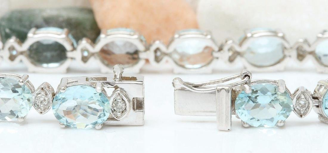 25.75 Carat Natural Aquamarine 18K Solid White Gold - 2