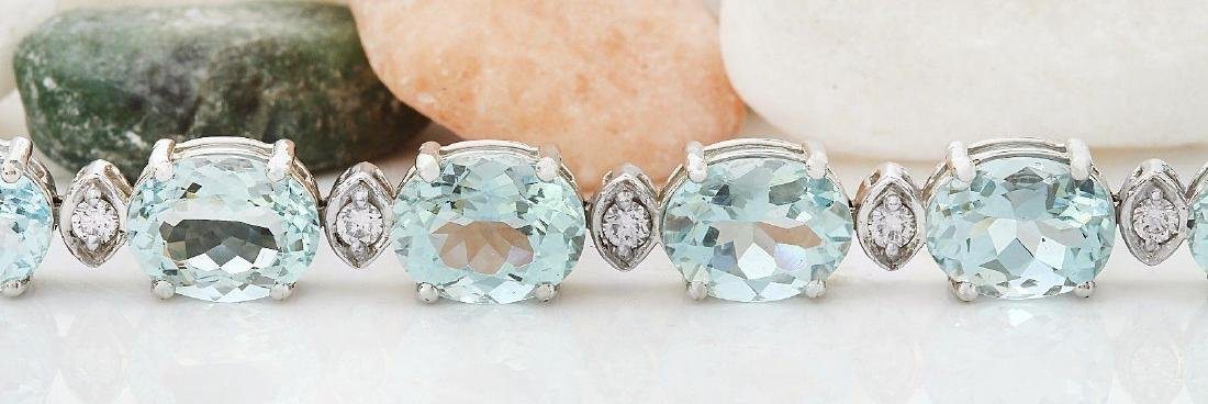 25.75 Carat Natural Aquamarine 18K Solid White Gold - 3
