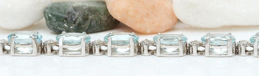 25.75 Carat Natural Aquamarine 18K Solid White Gold - 4