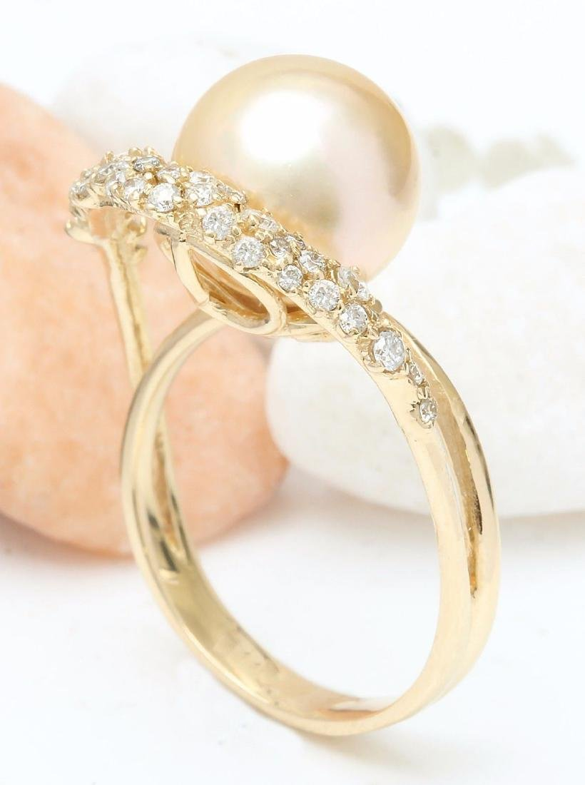 3.48 mm Gold South Sea Pearl 18K Solid Yellow Gold - 4