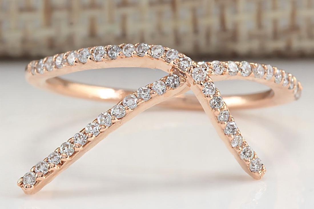 .25Carat Natural Diamond Ring 18K Solid Rose Gold