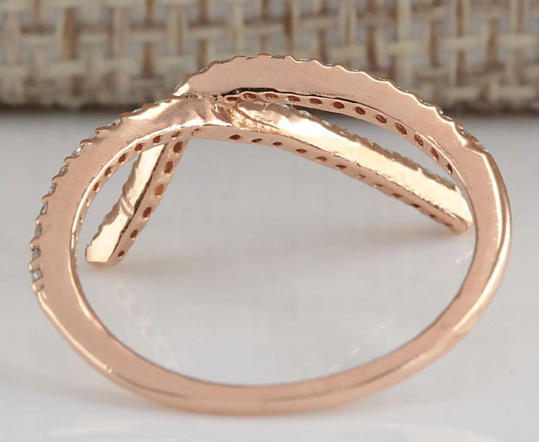 .25Carat Natural Diamond Ring 18K Solid Rose Gold - 3