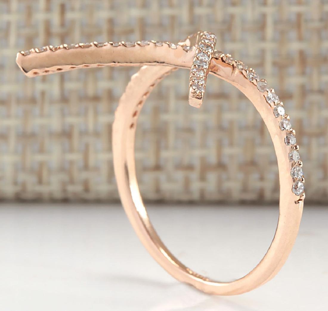 .25Carat Natural Diamond Ring 18K Solid Rose Gold - 4