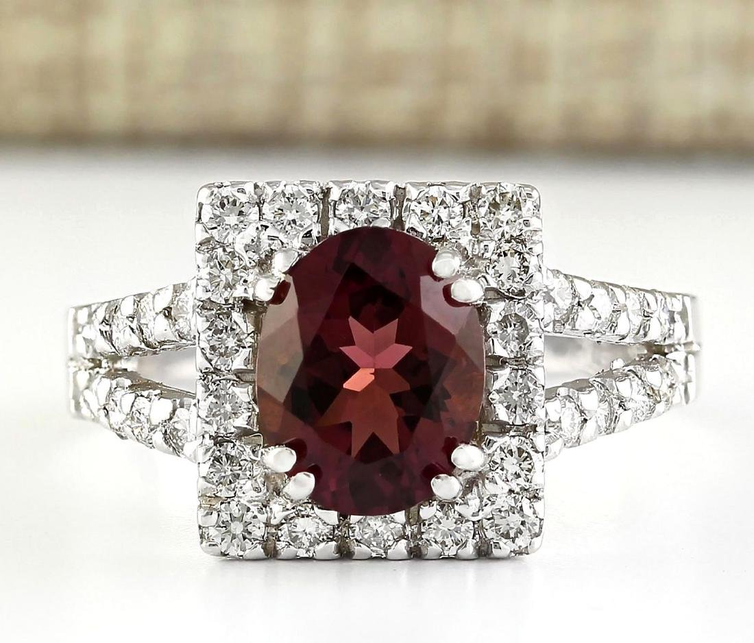 2.77 Carat Natural Pink Sapphire And Diamond Ring In