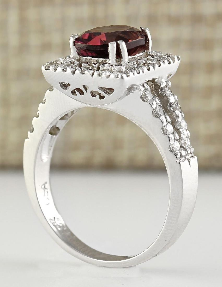 2.77 Carat Natural Pink Sapphire And Diamond Ring In - 3