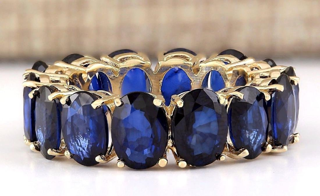 11.20 Carat Natural Sapphire Ring In 18K Yellow Gold