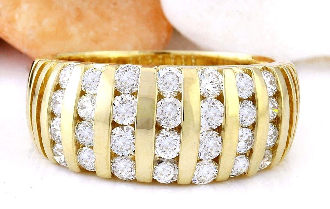 1.55 Carat Natural Diamond 18K Solid Yellow Gold Ring