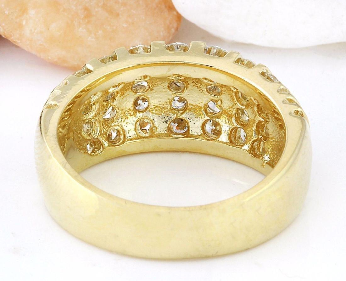 1.55 Carat Natural Diamond 18K Solid Yellow Gold Ring - 3