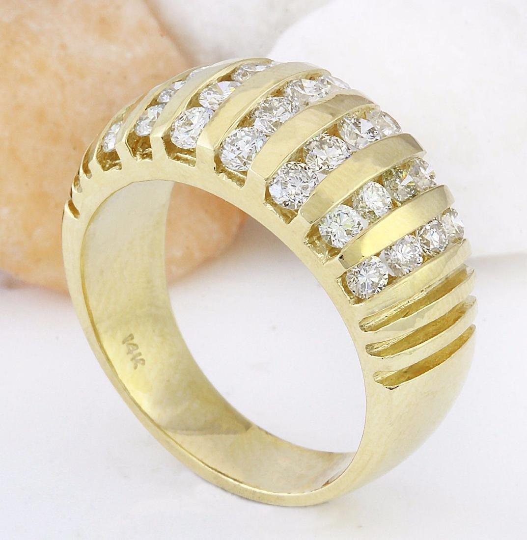 1.55 Carat Natural Diamond 18K Solid Yellow Gold Ring - 4