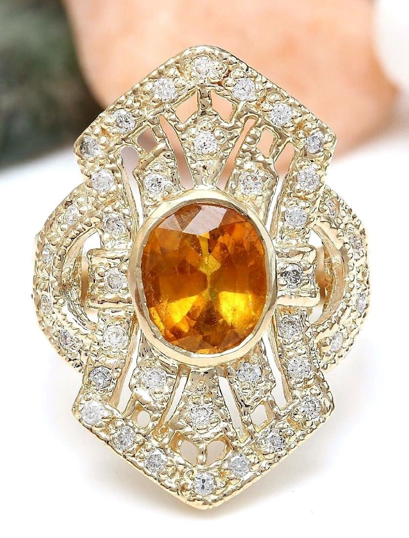 2.88 Carat Natural Sapphire 18K Solid Yellow Gold