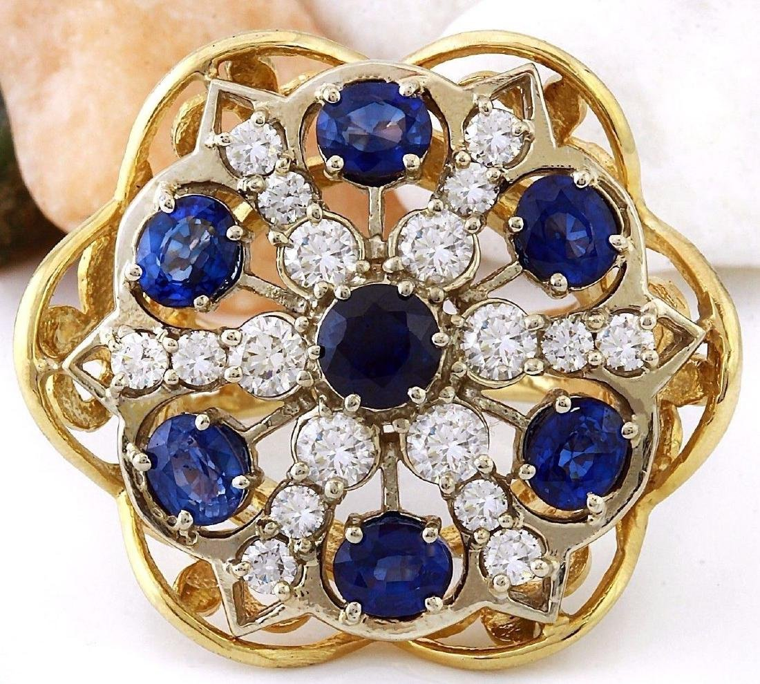 7.50 Carat Natural Sapphire 18K Solid Yellow Gold