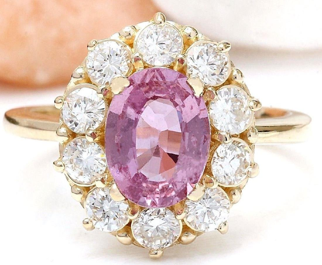 2.86 Carat Natural Sapphire 18K Solid Yellow Gold