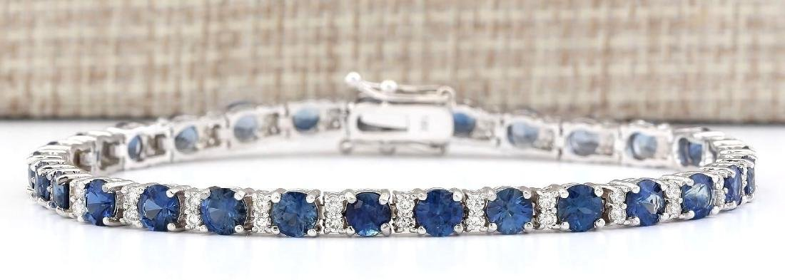11.10 Carat Natural Sapphire And Diamond Bracelet In