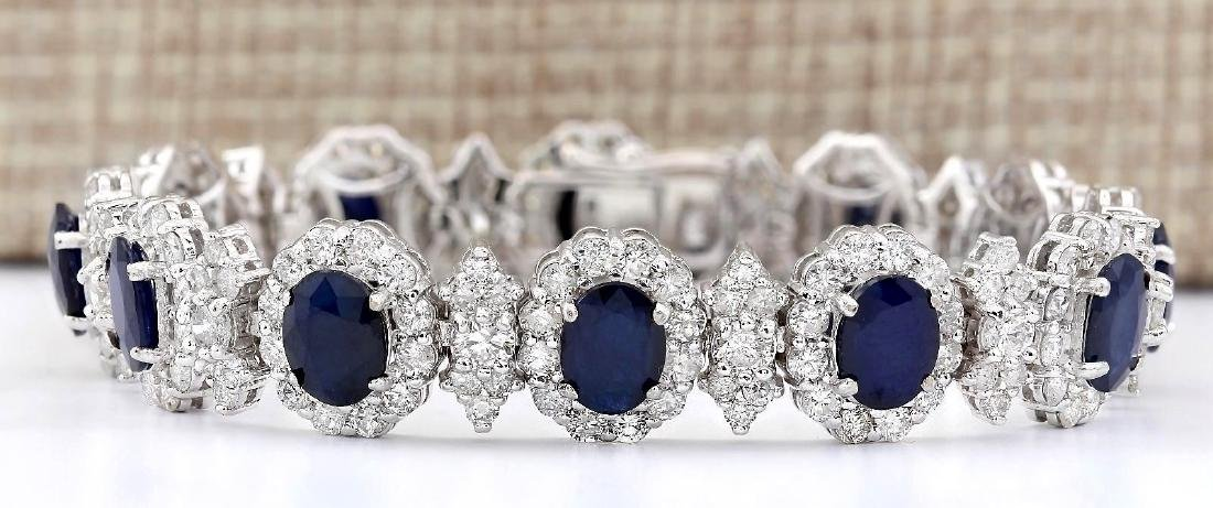 29.45 Carat Natural Sapphire And Diamond Bracelet In