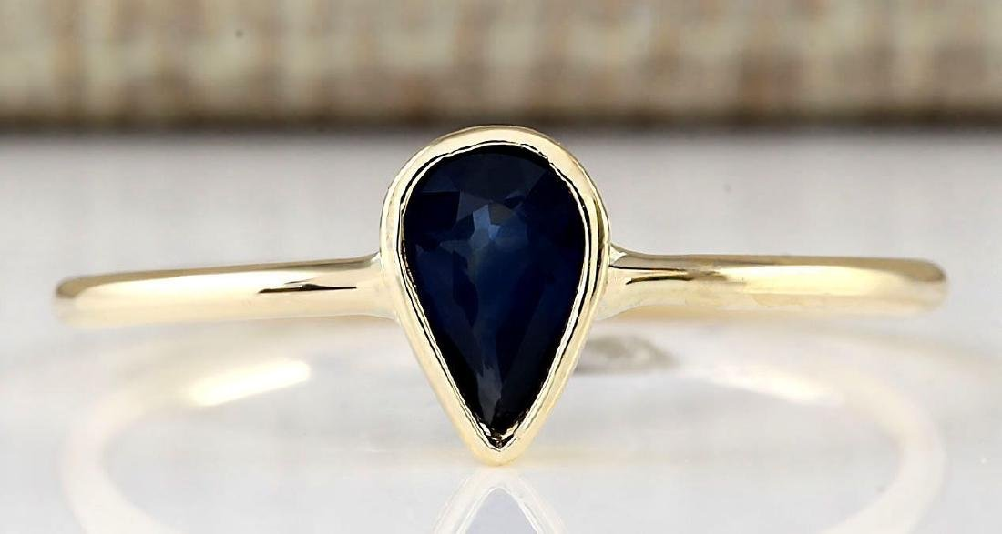 .52 Carat Natural Sapphire Ring In 18K Yellow Gold