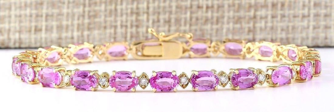 14.92 Carat Natural Sapphire And Diamond Bracelet In