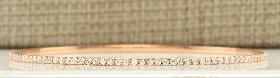 2.25 Carat Natural Diamond Bracelet In 18K Solid Rose
