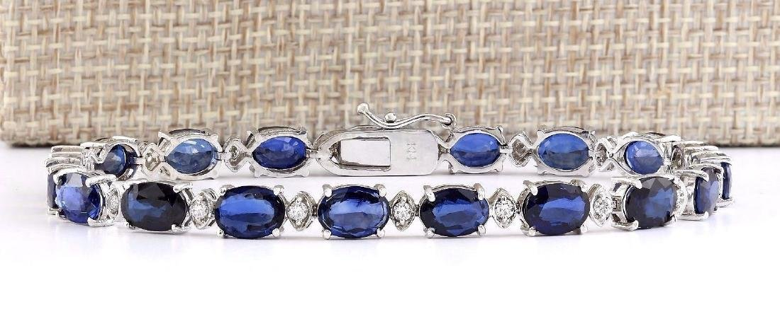 16.97 Carat Natural Sapphire And Diamond Bracelet In