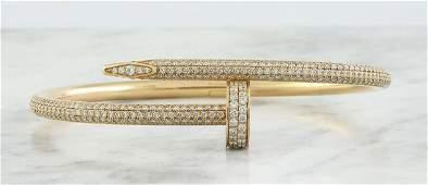 Authentic Cartier Juste Un Clou 18K Rose Gold Diamond