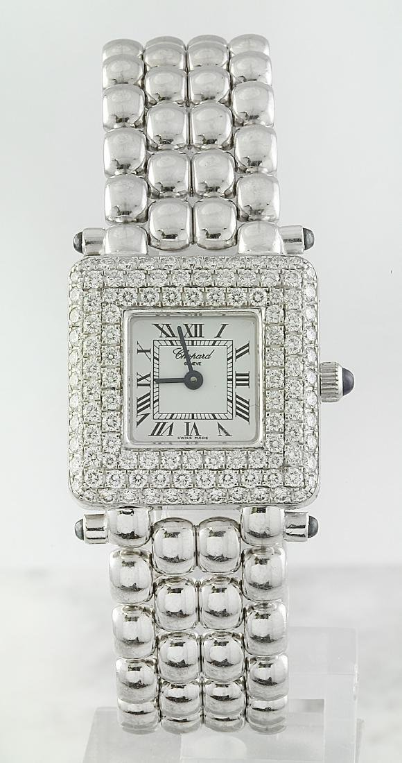 Authentic Chopard Geneve 18K White Gold Diamond Watch