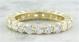2.55 Carat Diamond 18K Yellow Gold Eternity Ring Band
