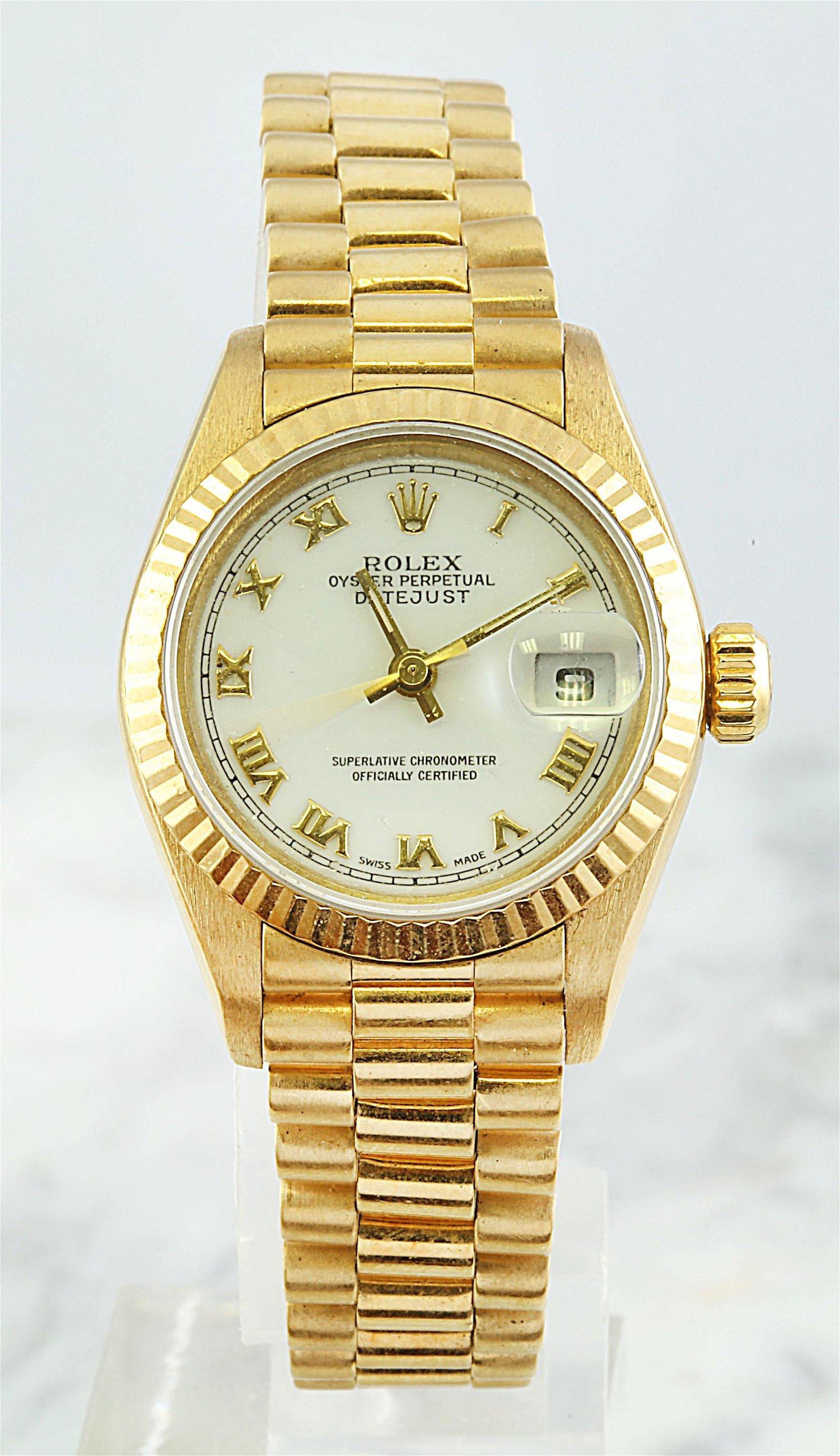 Authentic Rolex Presidential Date Just Ladies 18K