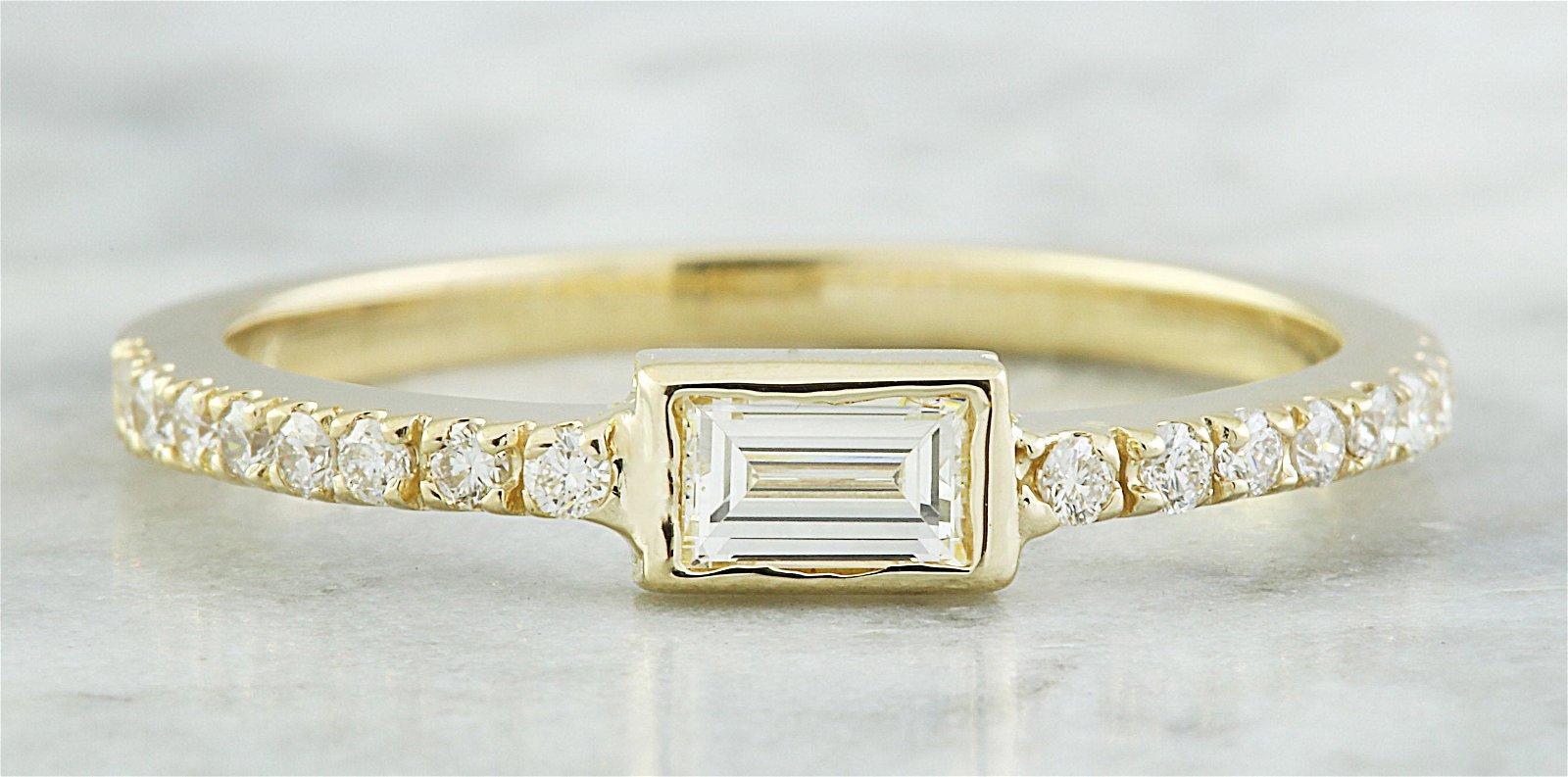 0.38 CTW Diamond 14K Yellow Gold ring