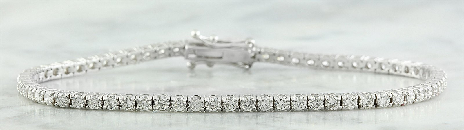 3.55 CTW Diamond 18K White Gold Bracelet