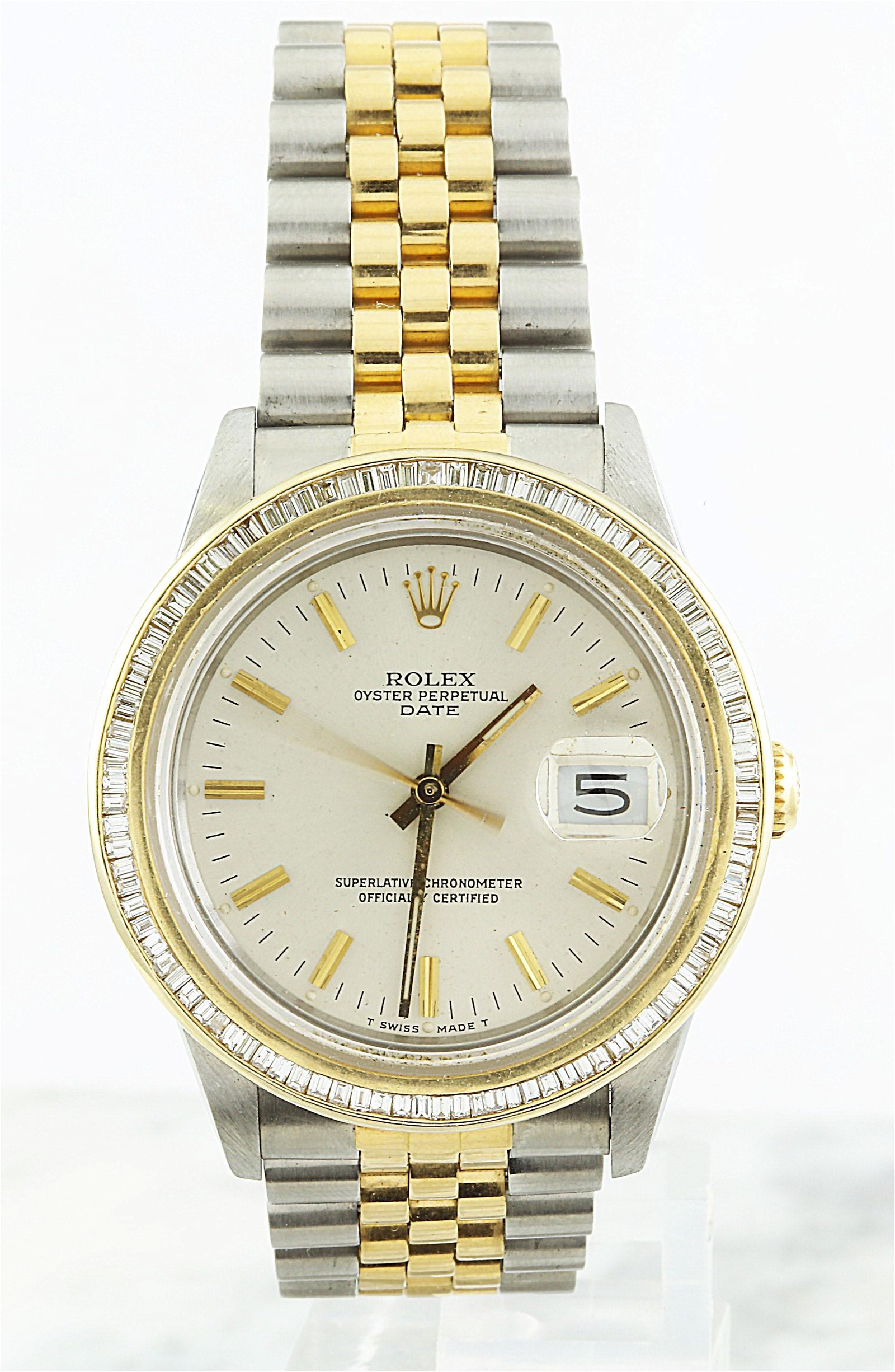 Authentic Rolex Oyster Perpetual Date Diamond Watch